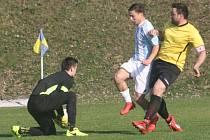Z utkání Libodřice - Býchory (0:1).