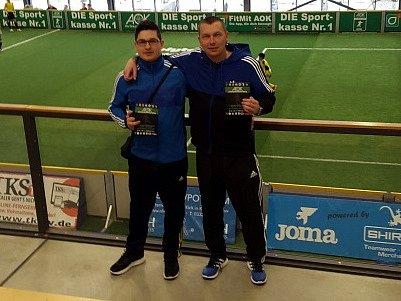 Jan Pikner (vpravo) se zúčastnil stáže v týmu Hertha Berlín.