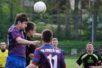 Z utkání Radim - Loučeň (0:2).
