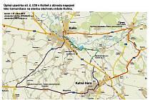 Mapa objízdných tras