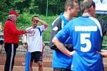 Ze zápasu nohejbalové extraligy Český Brod - Vsetín