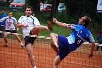 Z utkání extraligy nohejbalu Český Brod - Čakovice