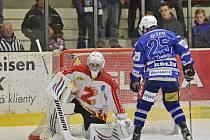 Z utkání 1. kola play off Kolín - Žďár nad Sázavou (1:2).
