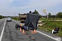 Tragická nehoda motocyklu na Kolínsku.