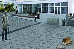 Vítězný návrh řešení nového prostoru nad řekou Labe v Kolíně.