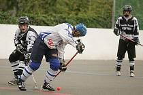 Z utkání 2. hokejbalové ligy HBC Kolín - South Park Cows (2:1).