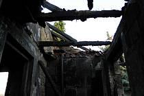 Při požáru domku v Kutlířích uhořel jednapadesátiletý muž