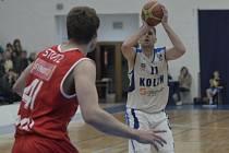 Z utkání BC Geosan Kolín - Nymburk (73:84).