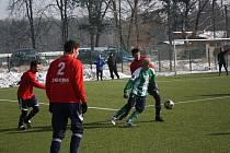 Z utkání zimního turnaje Zásmuky - Poděbrady (1:3).