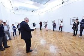 Vernisáž výstavy V boji v Galerii města Kolína