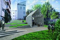 Vítězný návrh řešení nového prostoru nad řekou