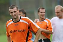 Z přípravného fotbalového utkání FK Kolín - Stará Boleslav (7:1).