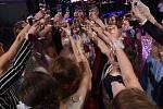 Coby Filmovou noc nebo – li  Movie Night koncipovali svůj maturitní ples první únorový pátek vMěstském společenském domě vKolíně studenti dvou tříd Střední zdravotnické školy a Vyšší odborné školy zdravotnické vKolíně