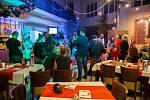 Z Mikulášské party v hotelu Theresia v Kolíně.