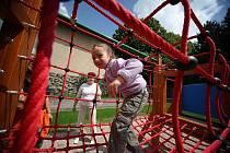 Otevření centrálního dětského hřiště v Kolíně.