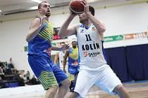 Z utkání nadstavby BC Kolín - Ústí nad Labem (78:81).