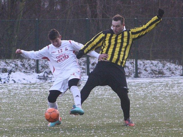 Z utkání Velim - Luštěnice (1:0).