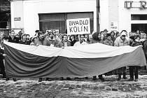 Kolínské divadlo na stávce.