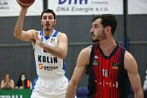 Z utkání 12. kola Kooperativa NBL BC Kolín - Brno (83:64).