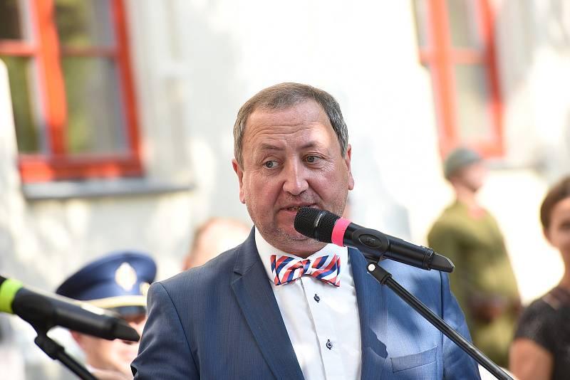 Z pietního aktu k uctění památky Václava Morávka v Kolíně.