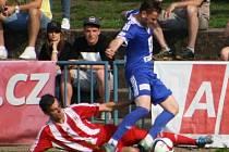Z utkání FK Kolín - Zápy (1:2).