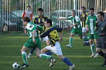 Z utkání Zásmuky - Poděbrady (0:3).