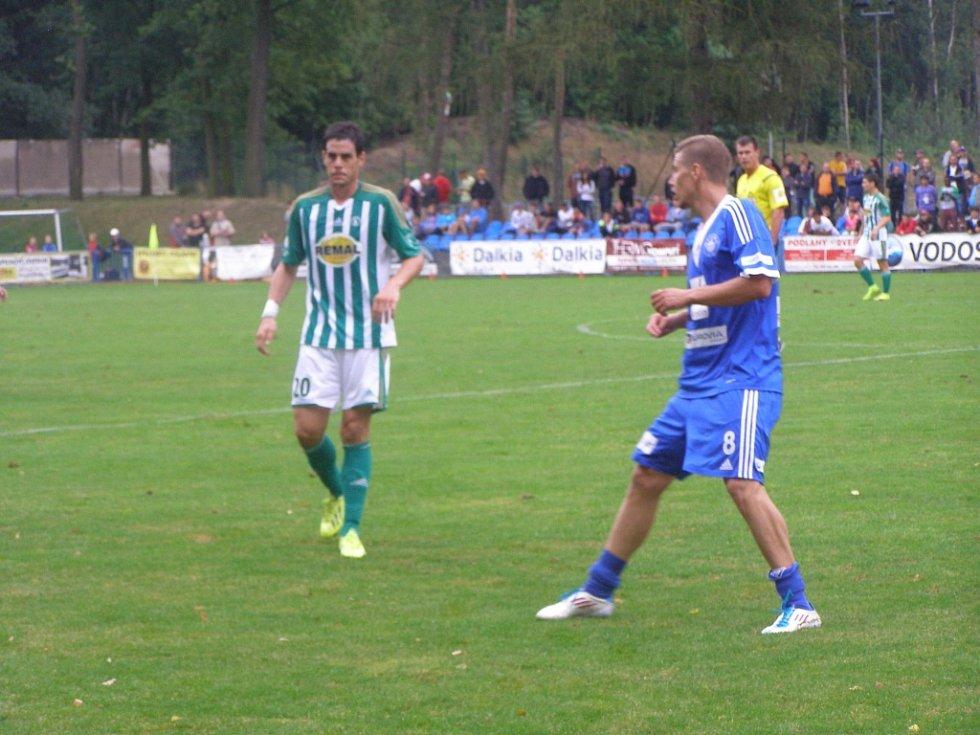 Z fotbalového utkání Poháru České pošty Kolín - Bohemians 1905 (0:3)