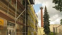 Přestavba pavilonu C v areálu českobrodské nemocnice.