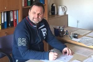 Vladimír Zeman v klubovně kolínského klubu.