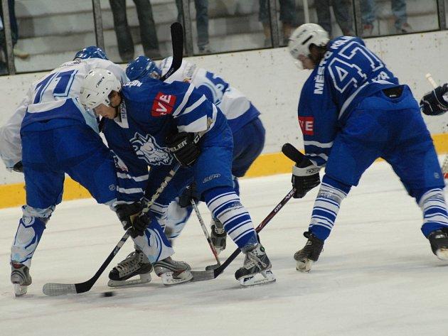 Z utkání druhé hokejové ligy Kolín - Tábor (3:7) hraného ve středu 8. října 2008.