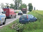 Autonehoda na výjezdu z Kolína na Polepy, 30.6.2009