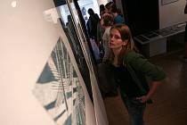 Z vernisáže výstavy linorytů