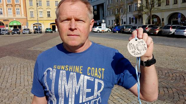 Organizátor běžeckého závodu KVOK Václav Miler.