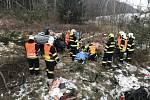 Tragická nehoda u Kostelce nad Černými lesy.