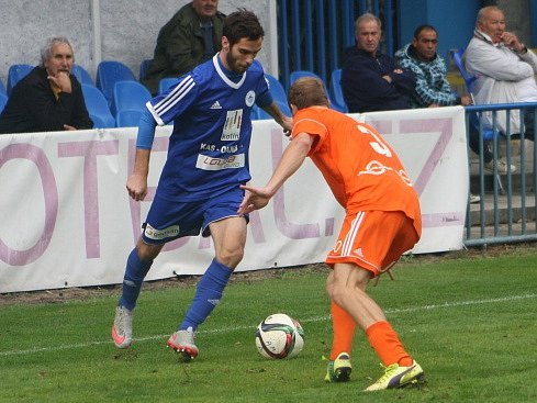 Z utkání FK Kolín - Živanice (1:2).