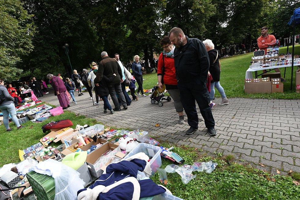 Z Blešáku na vzduchu vkolínském Komenského parku v sobotu 28 srpna 2021.