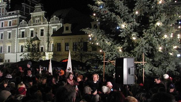 Rozsvěcení vánočního stromu v Kolíně