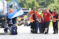 Vážná nehoda motorkáře u Žiželic