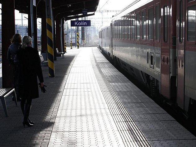 Vlakové nádraží v Kolíně.