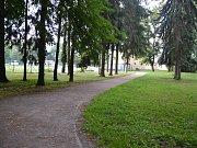 Lesopark v Pečkách.