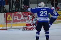 U utkání II. NHL: Kolín - Žďár nad Sázavou (2:1).