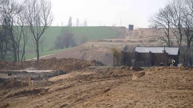 Postup výstavby obchvatu Kolína, duben 2009
