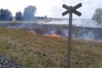 Požár v okolí trasy řepařské drážky