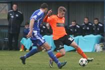 Z utkání FK Kolín - Roudnice nad Labem (0:0).