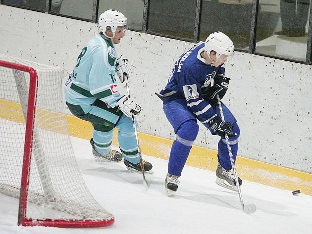 Z utkání Kolín - Milevsko (2:6).