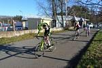 Z cyklokrosových závodů v Kolíně