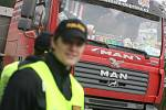 Policejní kontrolovala i řidiče. 23.3.2009. Stříbrná Skalice