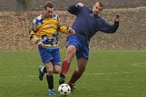 Z utkání fotbalové I. B třídy Libodřice - Tuchoraz (2:1).