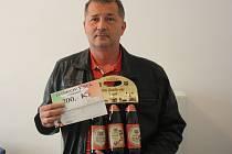 Ladislav Kruliš vyhrál karton piv značky Rohozec, poukázku do pizzerie Týna v hodnotě 200,-Kč a poukázku na cvičení SlimBelly.