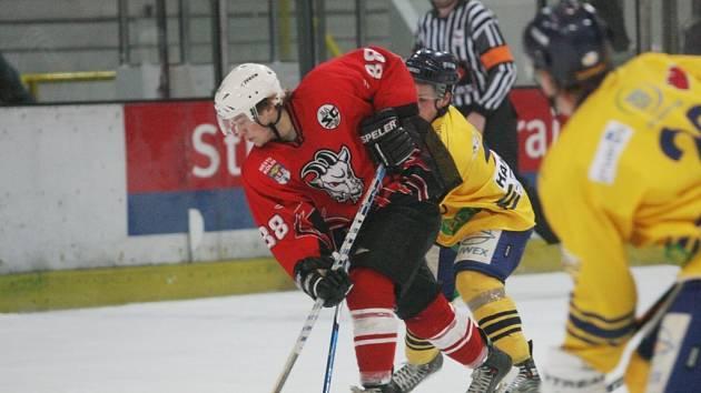 Z utkání druhé holejové ligy Kolín - Milevsko.